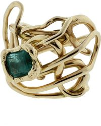 Gemfields X Muse - Millefili Ring With Emerald - Lyst