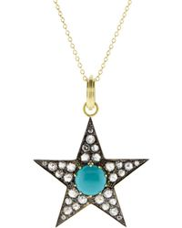 Sylva & Cie - Large Turquoise Star Pendant - Lyst