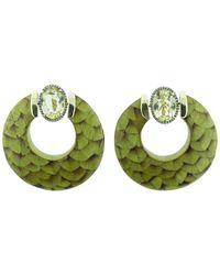 Silvia Furmanovich | Marquetry Hoop Earrings | Lyst