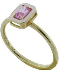 Alison Lou - Pink Sapphire And Enamel Ring - Lyst
