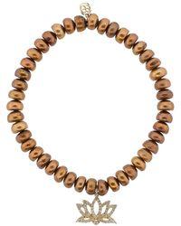 Sydney Evan - Lotus Flower Charm Bracelet - Lyst