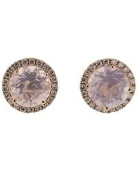 Dana Rebecca - Anna Beth Pink Quartz Stud Earrings - Lyst
