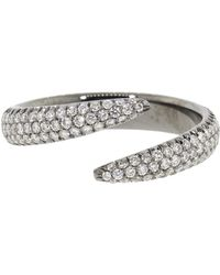 Eva Fehren - Diamond Pave Wrap Claw Midi Ring - Lyst