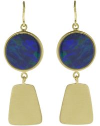 Sylva & Cie - Maya Collection Opal Earrings - Lyst