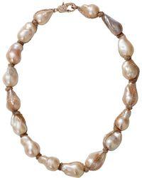 Jordan Alexander - Beige Baroque Pearl Necklace - Lyst