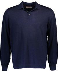 Brunello Cucinelli | Fine Gauge Polo Sweater | Lyst