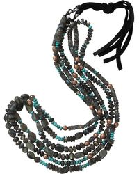 Royal Nomad Jewelry - Three Strand Labradorite And Turquoise Necklace - Lyst