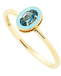 Alison Lou | Blue Topaz And Enamel Ring | Lyst