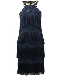 Notte by Marchesa - Fringe Cocktail Dress - Lyst