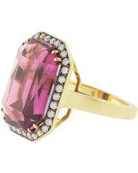 Sylva & Cie - Rhodolite And Diamond Ring - Lyst