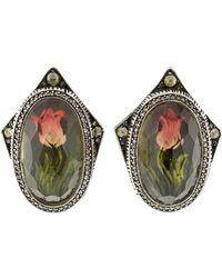 Sevan Biçakci - Carved Tulip Diamond Stud Earrings - Lyst