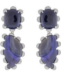 Dana Rebecca - Courtney Lauren Sapphire Earrings - Lyst