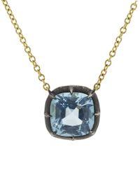 Fred Leighton - Cushion Blue Topaz Pendant Necklace - Lyst