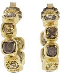 Todd Reed - Diamond Hoop Earrings - Lyst