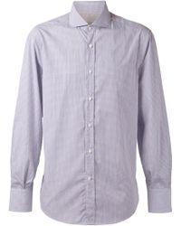 Brunello Cucinelli - Spread Collar Stripe Shirt - Lyst