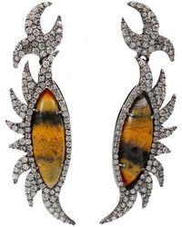 Colette - Bumble Bee Diamond Earrings - Lyst