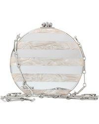 Edie Parker Oscar Round Stripe Clutch