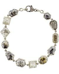 Sylva & Cie - Mixed Rough Diamond Bracelet - Lyst
