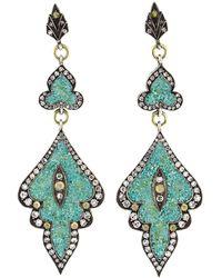 Sevan Biçakci - Turquoise Mosaic Shield Earrings - Lyst