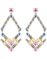 Larkspur & Hawk - Caterina Trapezoid Chandelier Earrings - Lyst