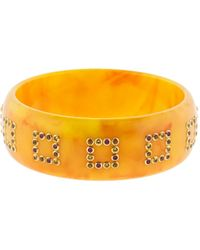Mark Davis - Orange Bakelite Gemstone Bangle - Lyst