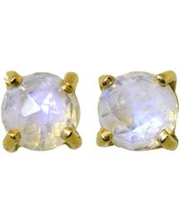 Irene Neuwirth - Rainbow Moonstone Stud Earrings - Lyst