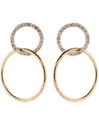 Mattia Cielo - Rugiada Diamond Double Circle Earrings - Lyst