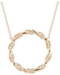 Dana Rebecca | Carly Brook Diamond Circle Necklace | Lyst