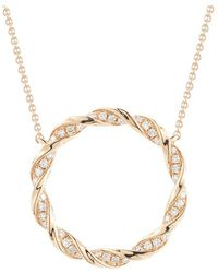 Dana Rebecca - Carly Brook Diamond Circle Necklace - Lyst