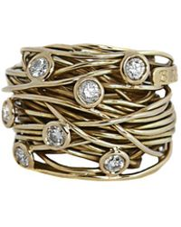 Boaz Kashi - Large Wire Diamond Ring - Lyst