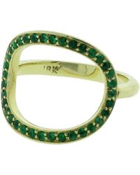 Gemfields X Muse - Circle Ring With Emeralds - Lyst