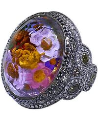 Sevan Biçakci - Carved Flower Garden Ring - Lyst