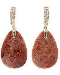 Pamela Huizenga - Fossilized Coral Earrings - Lyst