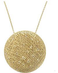 Yossi Harari - Large Round Lace Pendant Necklace - Lyst