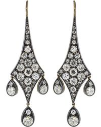 Fred Leighton - Old European Cut Diamond Pendant Earrings - Lyst