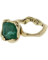 Gemfields X Muse - Castone Ring With Emerald - Lyst