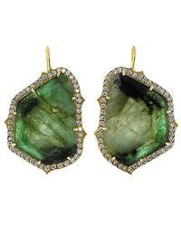 Sylva & Cie - Amazon Trapezoid Emerald Earrings - Lyst