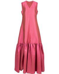 Alexis Mabille Flounce Hem Dress - Pink