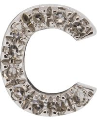 EF Collection - Diamond Initial C Stud Earring - Lyst