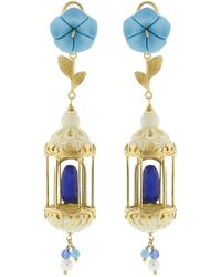 Of Rare Origin - Bird Cage Earrings - Lyst