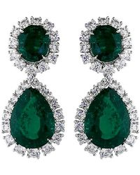 Fantasia Jewelry - Oval Drop Earrings - Lyst