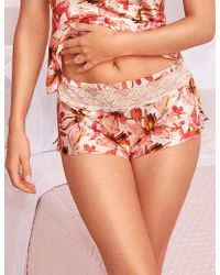 Marks & Spencer - Silk & Lace Floral Print French Knickers - Lyst