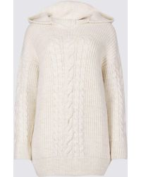 Marks & Spencer - Hooded Cable Knit Jumper - Lyst