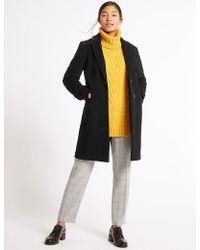 Marks & Spencer - 2 Pocket Wool Rich Coat - Lyst