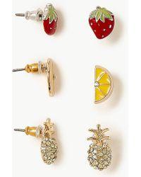 Lyst - Juicy Couture Large Pave Hoop Earrings in Metallic