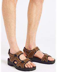 Marks & Spencer - Leather Riptape Sandals - Lyst