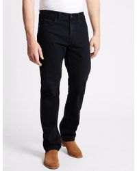 Marks & Spencer - Straight Fit Jeans - Lyst