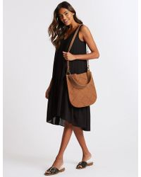 Marks & Spencer - Faux Leather Hobo Bag - Lyst