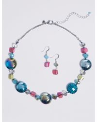 Marks & Spencer - Mix Up Necklace & Earrings Set - Lyst