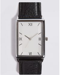 Marks & Spencer - Slim Rectangle Watch - Lyst